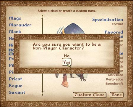 NPC screen
